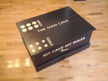 Man Cave Pine Storage Beer (Coffee) Table