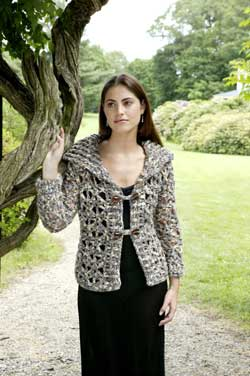 Bold Lace Jacket crochet pattern from SweaterBabe.com's Fabulous and Flirty Crochet book