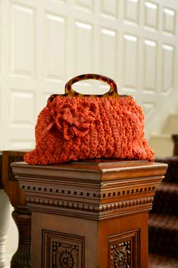 Orange Textured Purse crochet pattern from SweaterBabe.com's Fabulous and Flirty Crochet book