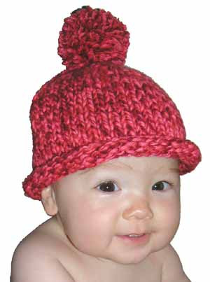 Easy Pom Pom Baby Hat Knitting Pattern For Beginners From