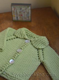 knitting pattern photo for #15 Chunky Cotton Baby Cardigan PDF Knitting Pattern