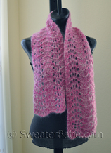 knitting pattern photo for #23 Mohair Lace Scarf PDF Knitting Pattern