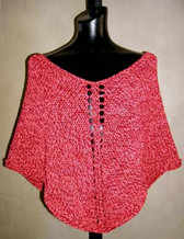 knitting pattern photo for #29 Beginner Knit Poncho PDF Knitting Pattern