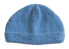 knitting pattern photo for #17 Easy Adult Beanie PDF Knitting Pattern