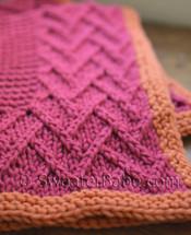 knitting pattern photo for #49 Lattice Design Baby Blanket