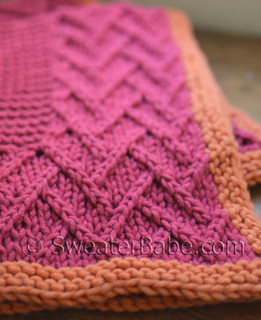 knitting pattern photo for #49 Lattice Design Baby Blanket