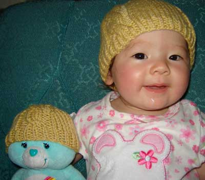 Free Knitting Pattern For Cable Baby Beanie Hat In Debbie Bliss