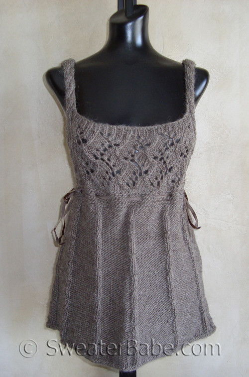 Romantic Cable And Lace Knit Vest Knitting Pattern In Lambs Pride