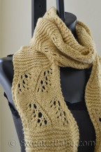 sinuously curved lace scarf knitting pattern