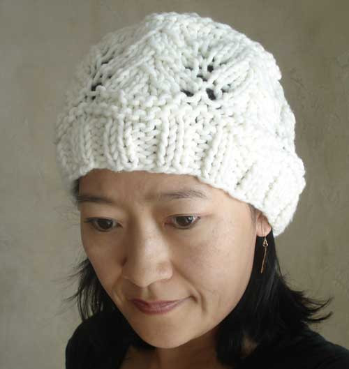 Knitting Pattern For Easy Vine Lace Hat From Sweaterbabe