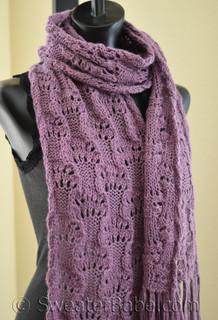Women S Delicate Lace Scarf Pdf Knitting Pattern In Blue
