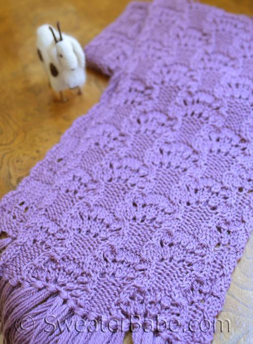 Womens Delicate Lace Scarf Pdf Knitting Pattern In Blue Sky Alpacas