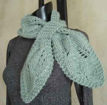 One Skein Falling Leaves Pull Through Lace Scarf Pdf Knitting