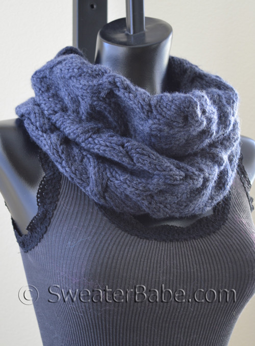 Luscious Cabled Cowl Pdf Knitting Pattern From Sweaterbabe Com