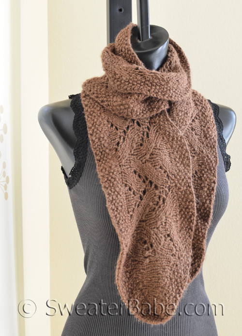 Chic Ruffled Edge Lace Scarf Pdf Knitting Pattern From Sweaterbabe Com