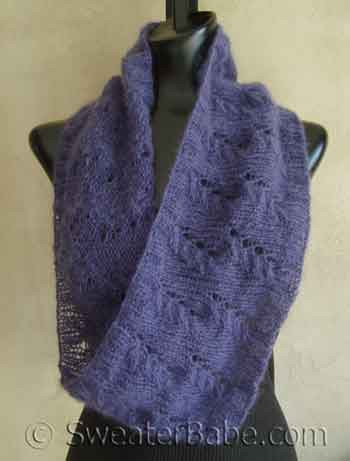 Mohair Lace Mobius Cowl Scarf Pdf Knitting Pattern From Sweaterbabe Com
