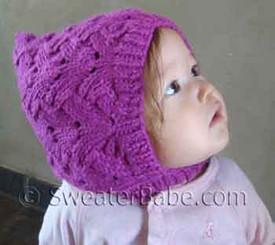 photo of #91 Fancy Stitch Pixie Baby Hat PDF Knitting Pattern