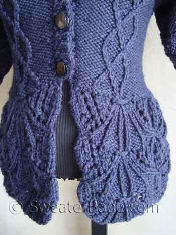 Shawl Collar Nipped Waist Cardigan Knitting Pattern Pdf Knitting