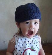 photo of #113 Super Cute One-Ball Newsboy Cap PDF Knitting Pattern