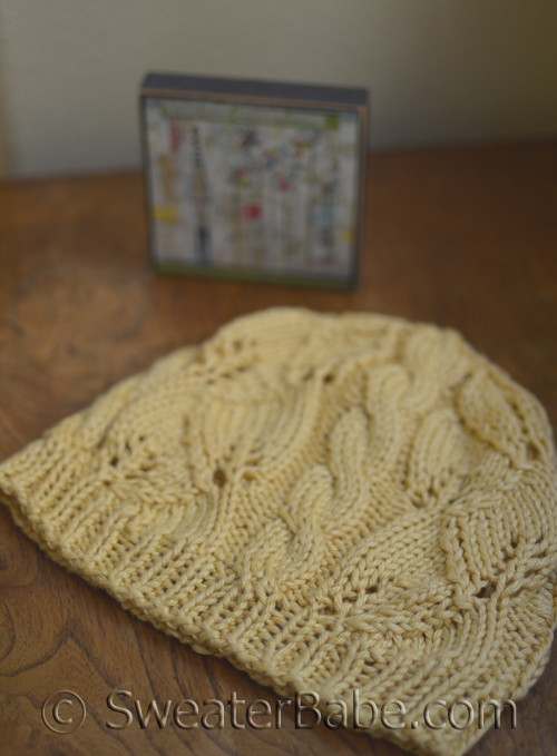 Breezy Cable And Lace Cotton Blend Hat Knitting Pattern From