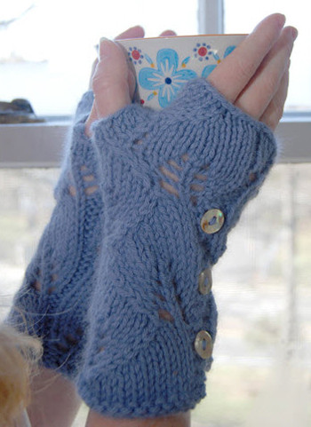 Free Pdf Knitting Pattern For Luxh Lacy Mitts From Sweaterbabe