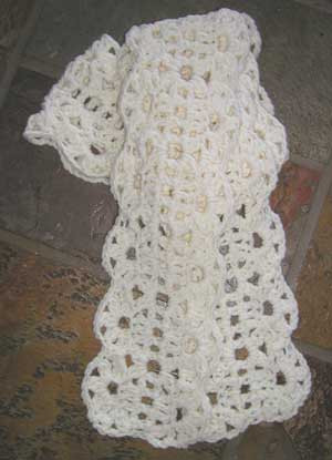 Crochet Pattern For Chunky Lace Crochet Scarf Pattern From