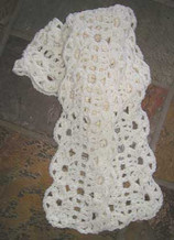 photo of #32 Lush Crocheted Lace Scarf