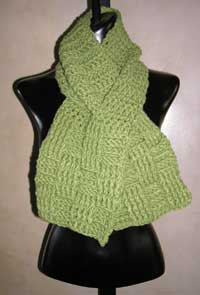 photo of #33 Handsome Basketweave Crocheted Scarf PDF Crochet Pattern