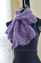 wavy edged scarf crochet pattern