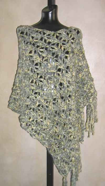 Dramatic Lace Poncho Crochet Pattern In Bulky Yarn From Sweaterbabecom