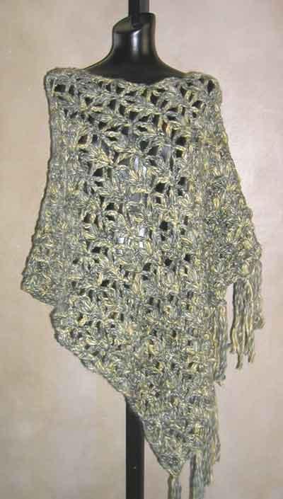 #41 Dramatic Lace Crochet Poncho PDF Crochet Pattern