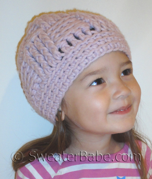 Easy Basketweave Stitch Hat Crochet Pattern In Baby And Adult Sizes