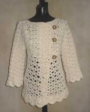 Vintage Top Down Crochet Cardigan Pattern From Sweaterbabecom
