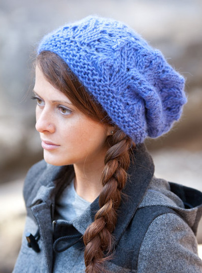 Free Knitting Pattern For Montera Slouchy One Ball Hat From