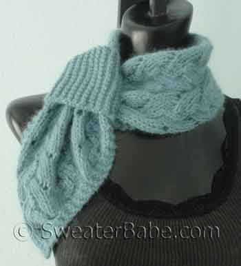 Knitting Pattern For Divine Pull Through Scarflette From Sweaterbabe Com