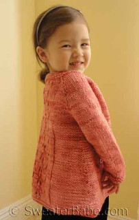 photo of size 4 on a 3-year old of #144 Three Flavor Delight Top-Down Cardigan PDF Knitting Pattern