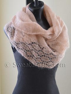 photo of #148 Blushing Lace Shawl Scarf PDF Knitting Pattern