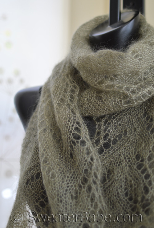 Knitting Pattern For Gossamer One Ball Lace Scarf Pattern From