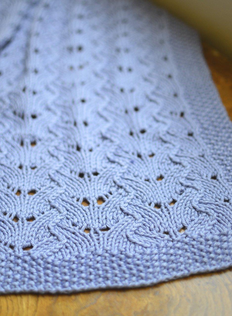 Pdf Knitting Pattern For Textured Lace Baby Blanket From Sweaterbabe Com
