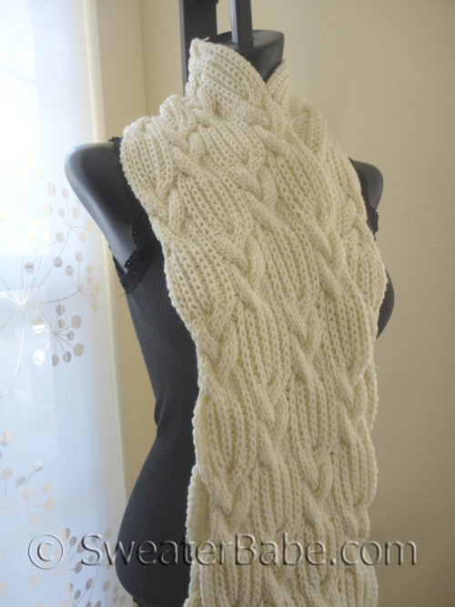 Pdf Knitting Pattern For Chunky Cables And Ribbing Scarf From
