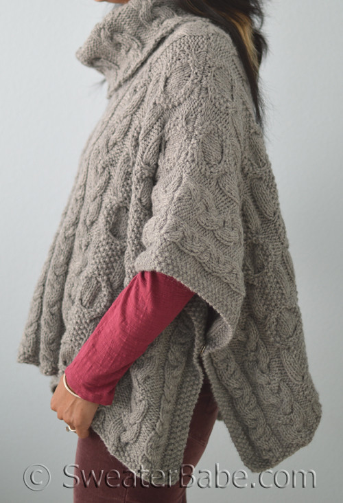 Pdf Knitting Pattern For Cable Love Cowl Neck Poncho From