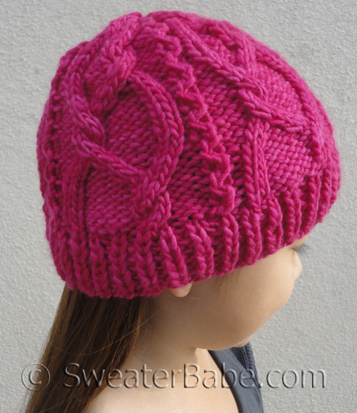 PDF Knitting Pattern for Meandering Cables One-Ball Hat from ... 0c9abf71931