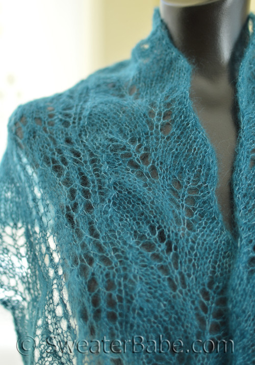 Pdf Knitting Pattern For Snowdrops And Curved Leaf Lace Scarf From