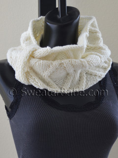 posh one-ball cowl knitting pattern