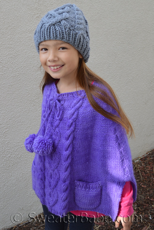 Pdf Knitting Pattern For Stolen Hearts Cabled Poncho From