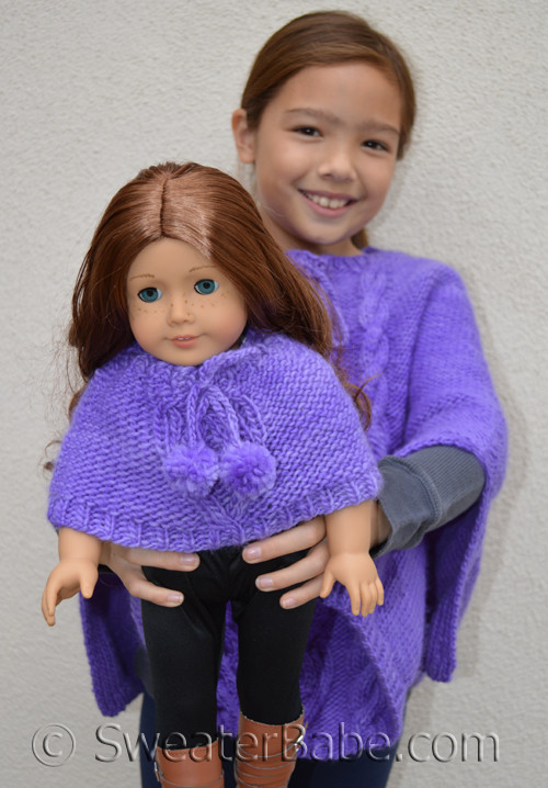 Pdf Knitting Pattern For Stolen Hearts Doll Sized Poncho From