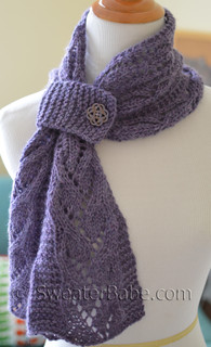 Elise One-Ball Scarflette Knitting Pattern