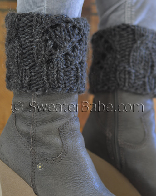 Pdf Knitting Pattern For Quick Chunky Boot Cuffs From Sweaterbabe