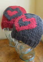 big-hearted hat knitting pattern
