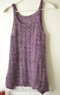 falling with grace tank knitting pattern